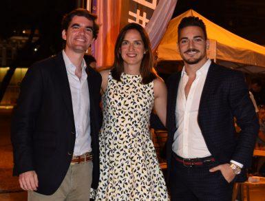 Damián Quintero con el director general de Deportes, Jaime González Castaño, y Alhambra Nievas. (Foto: CSD).