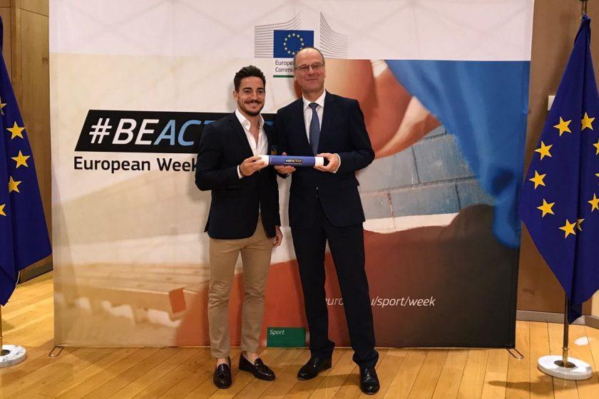 Damián Quintero asiste, en Bruselas, a la reunión de embajadores de la Semana Europea del Deporte