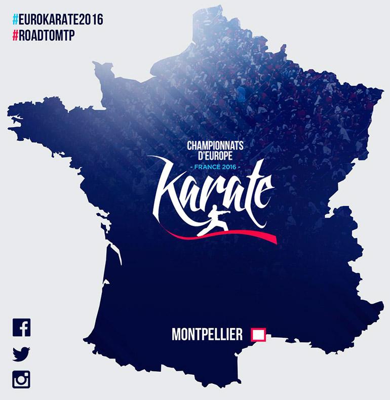 Damian Quintero Cartel Campeonato de Europa de Karate