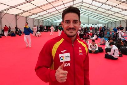 Damián Quintero, subcampeón del mundo de kata