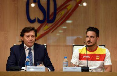 Damián Quintero junto a José Ramón Lete. (Foto: Consejo Superior de Deportes).