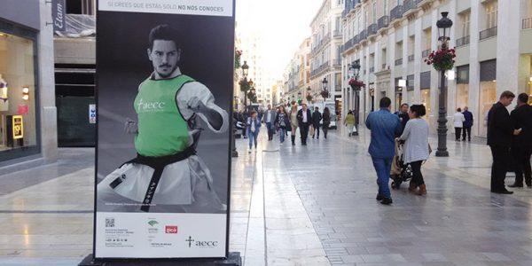 Colaboración AECC Calle Larios Málaga
